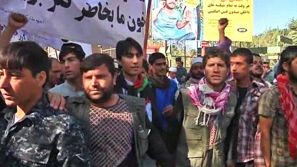 Protipákistánská demonstrace v Kábulu