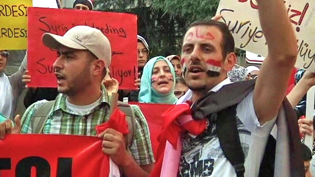 Syrští demonstranti