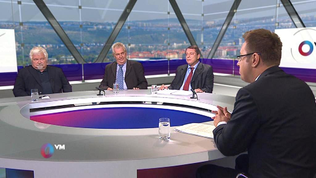 Otázky Václava Moravce - Petr Pithart, Miloš Zeman a Jiří Pparoubek