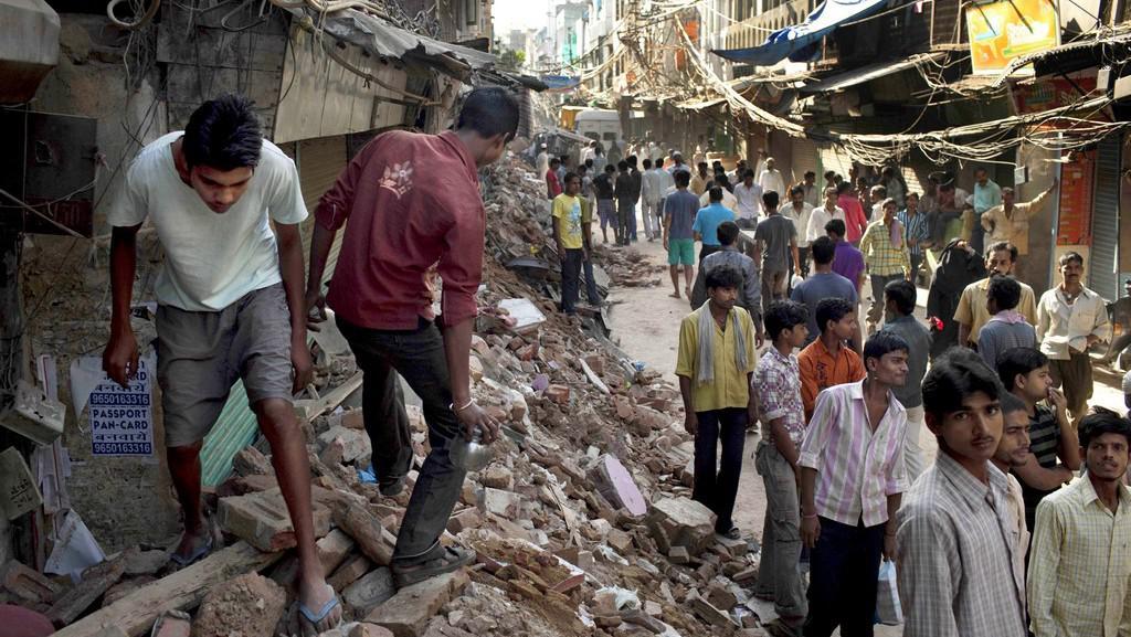 Zřícený dům v Dillí