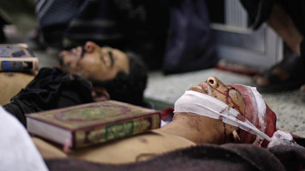 Těla obětí nepokojů v Jemenu