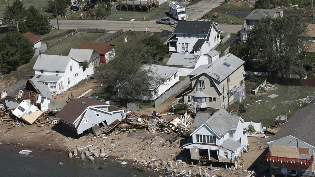 Domy zničené hurikánem Irene