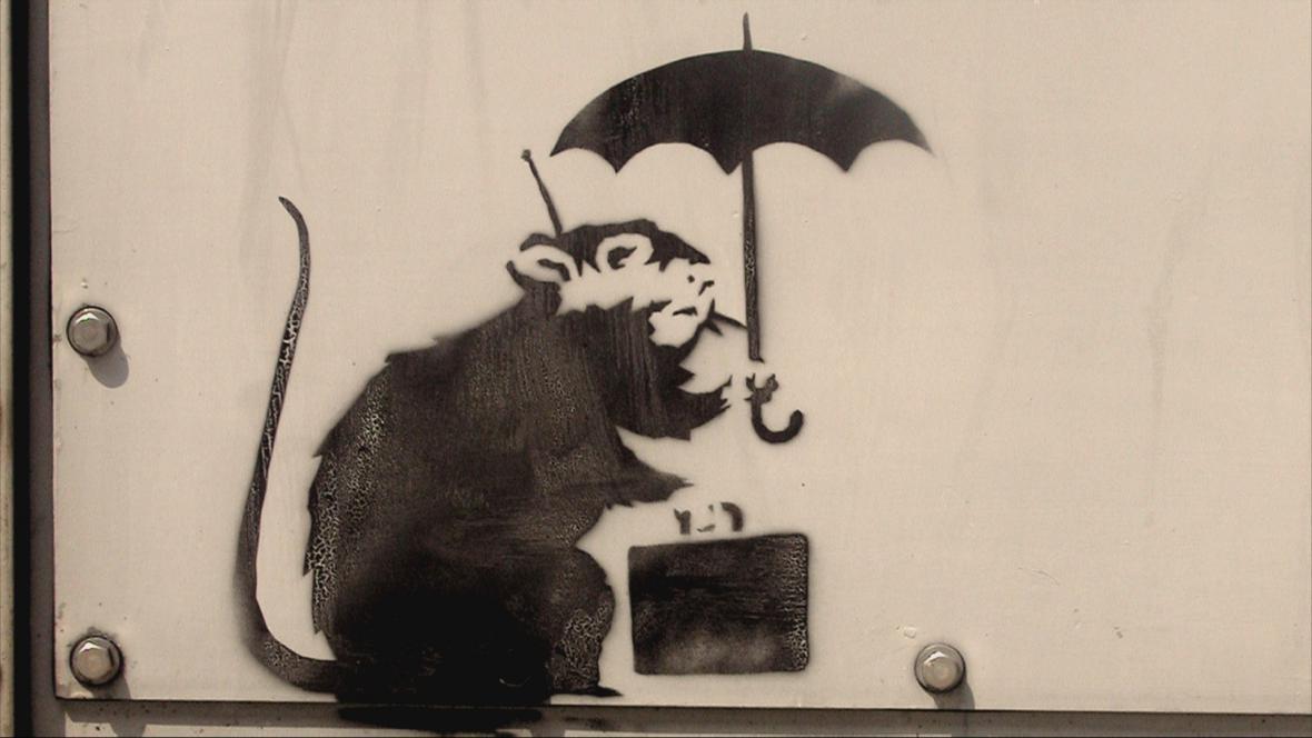 Banksyho graffiti (2002)