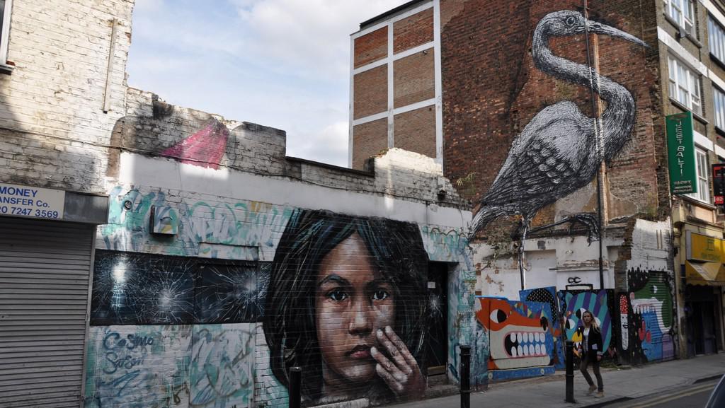 Graffiti (u Brick Lane, Londýn)