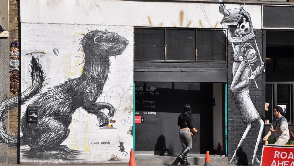 Graffiti poblíž Old Street (Londýn)