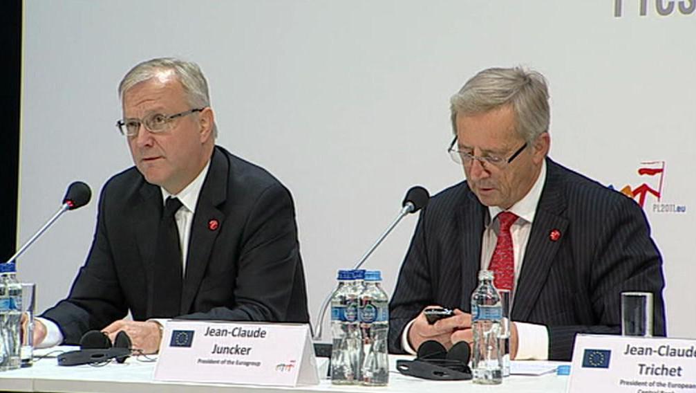 Olli Rehn a Jean-Claude Juncker