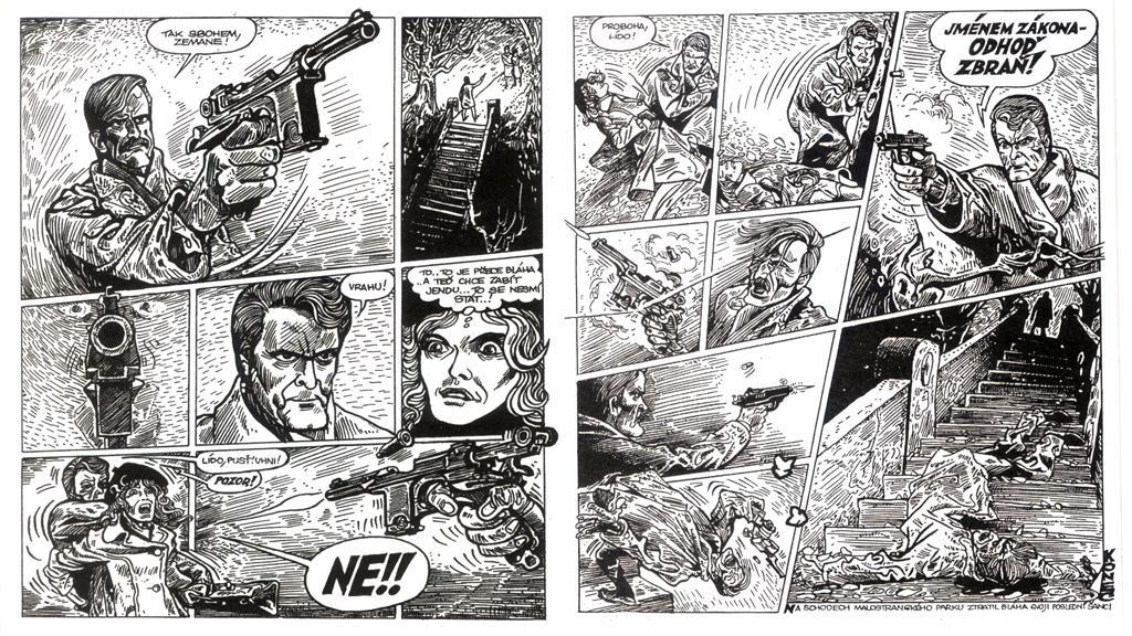 Smrt Lídy Zemanové v komiksu Káji Saudka