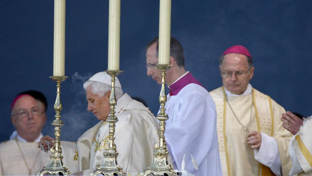 Benedikt XVI. na mši v Erfurtu
