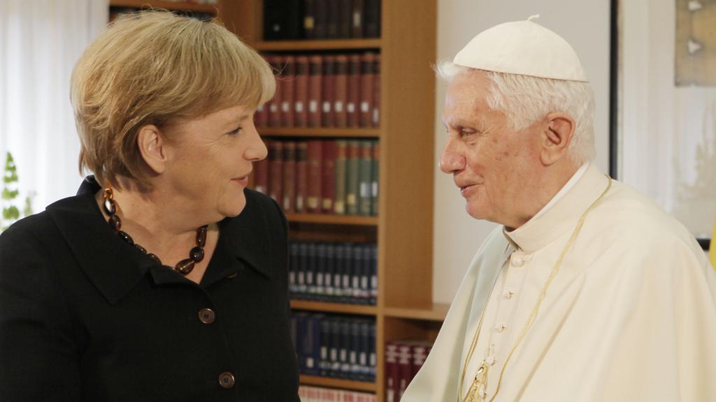 Angela Merkelová a papež Benedikt XVI.