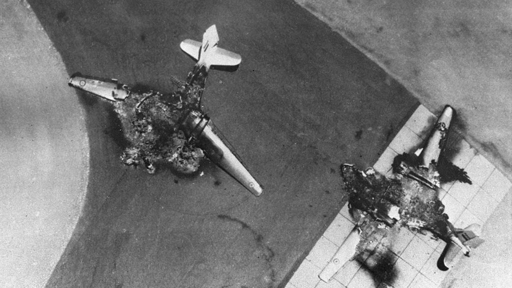 Šestidenní válka - zničená egyptská letadla