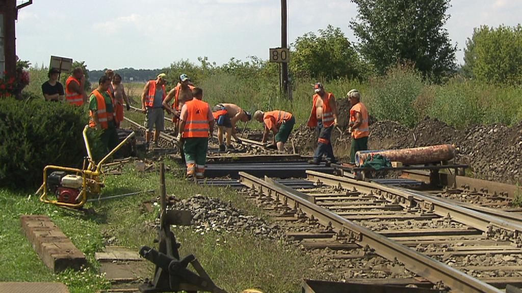Práce na trati