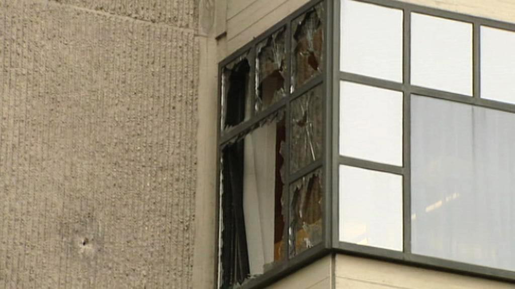 Následky výbuchu u amsterdamského soudu
