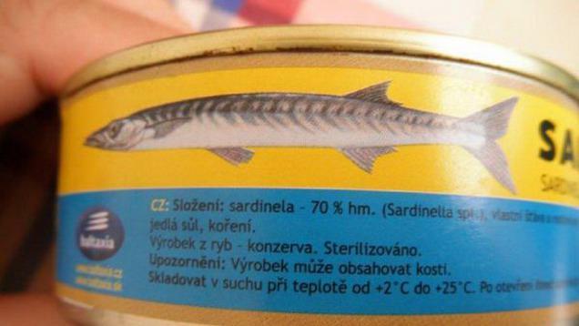 Estonské sardinky SAIRA s přebytkem histaminu