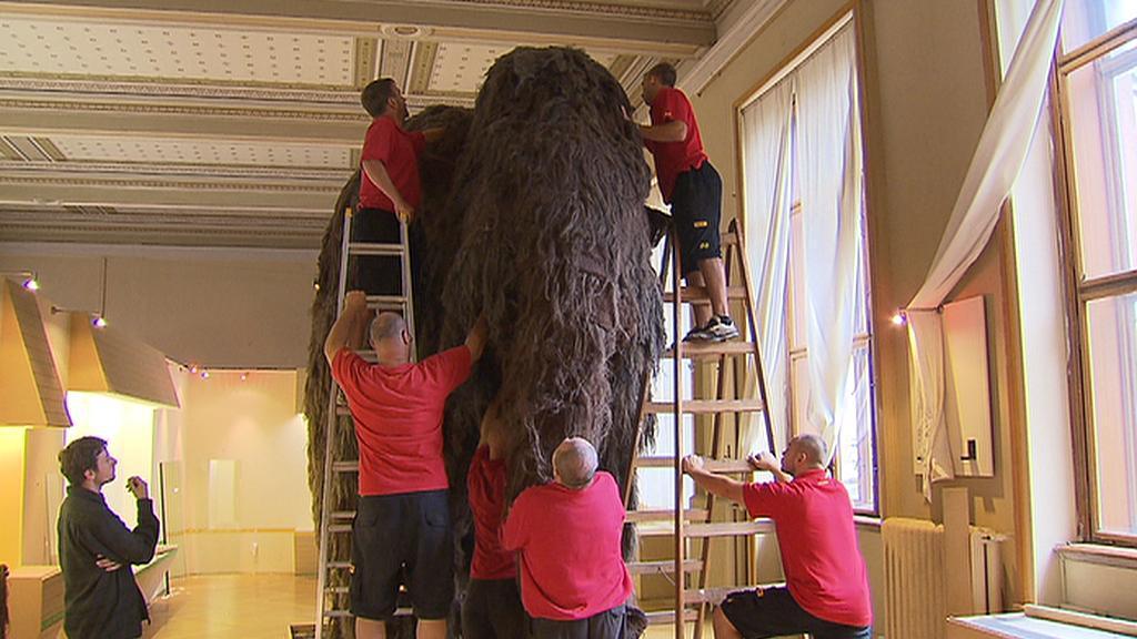 Rozebírání modelu mamuta
