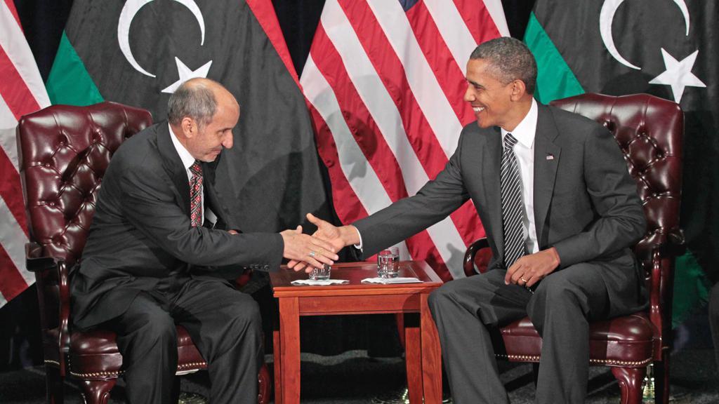 Mustafa Džalíl a Barack Obama
