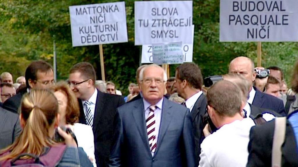 Václav Klaus na návštěvě Kyselky