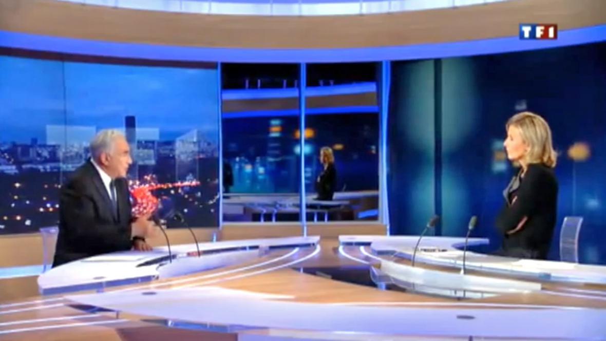 Dominique Strauss-Kahn v rozhovoru pro televizi TF1
