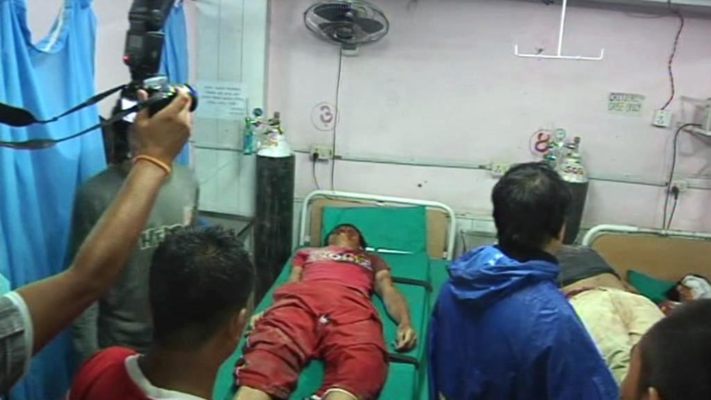 Oběti zemětřesení v Himaláji