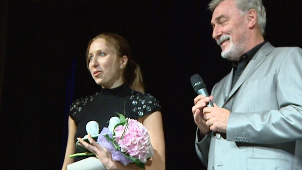 Tereza Bebarová při předání ceny za dabing