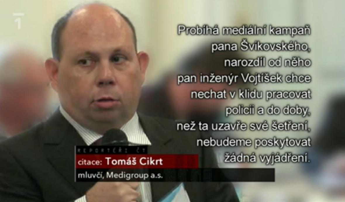Tomáš Cikrt, mluvčí Medigroup, a.s.