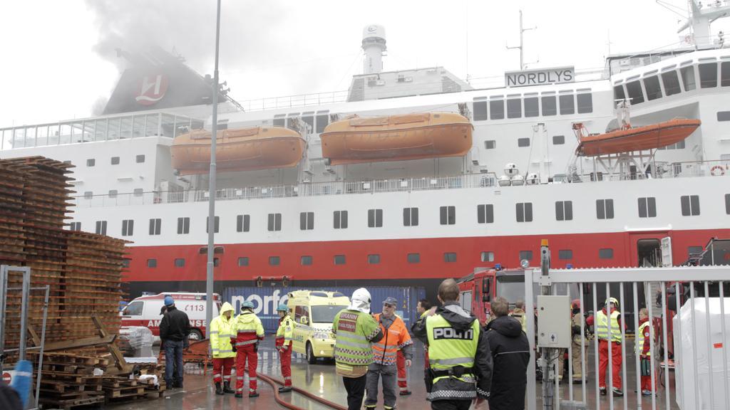 Požár norského trajektu
