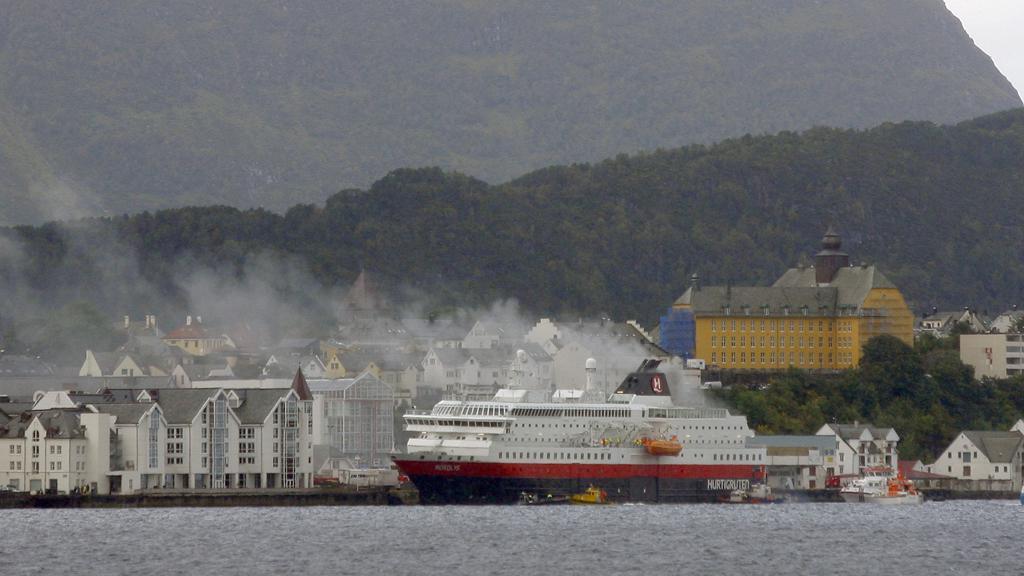 Požár na norském trajektu