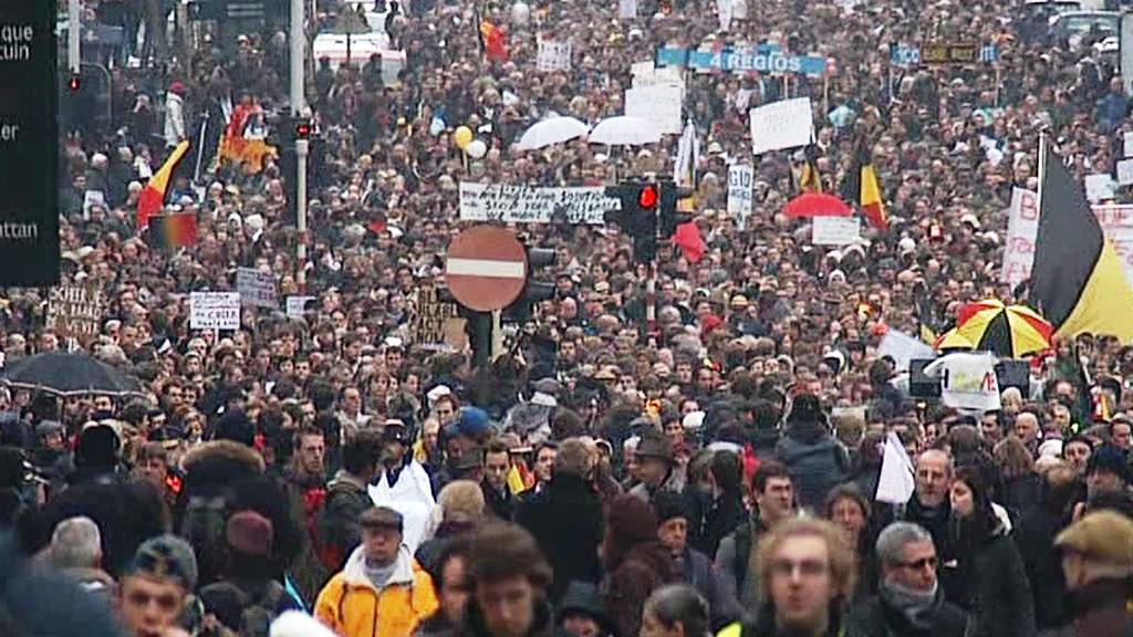 Belgičané demonstrují kvůli bezvládí