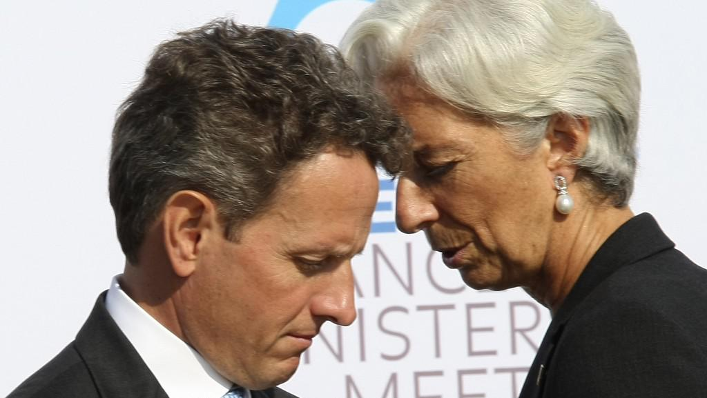 Lagardeová a Geithner