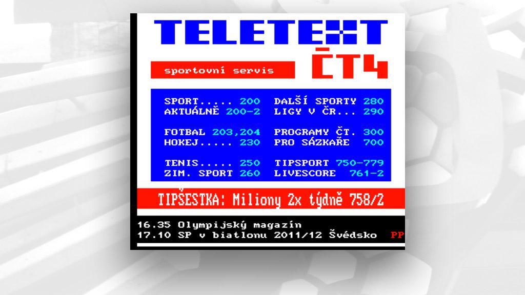 Teletext ČT4
