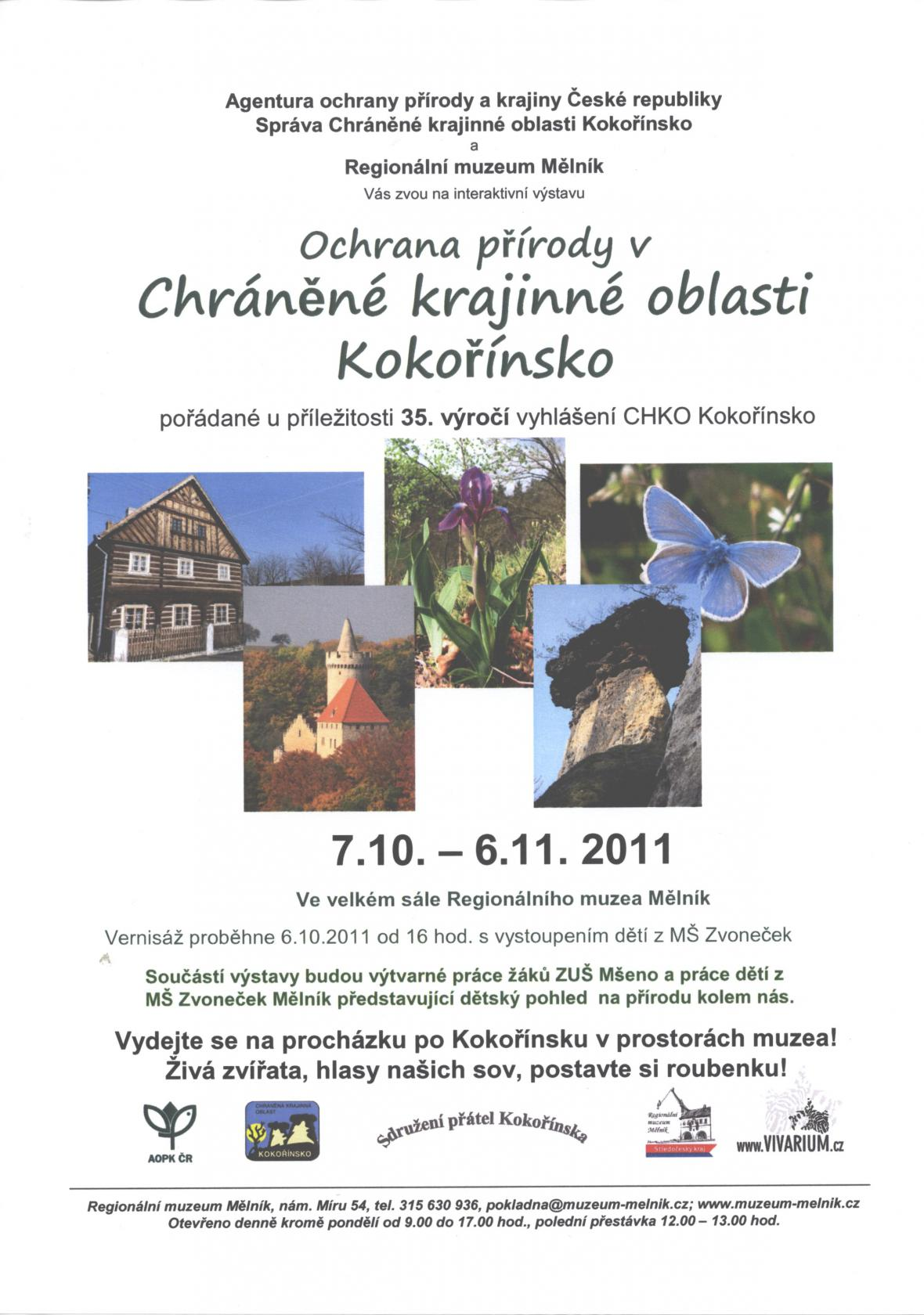 Plakát - Ochrana přírody v CHKO Kokořínsko