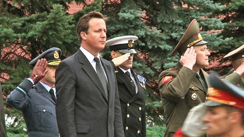 David Cameron na návštěvě Ruska