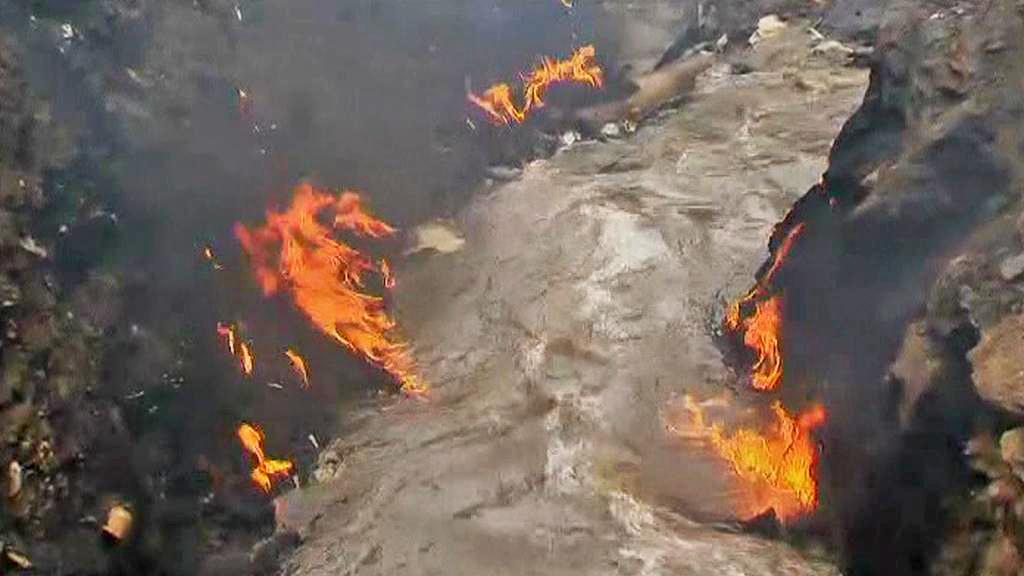 Požár ropovodu v Nairobi