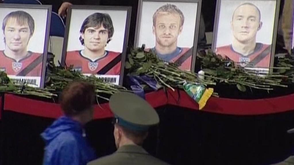 Loučení s hokejisty Jaroslavle