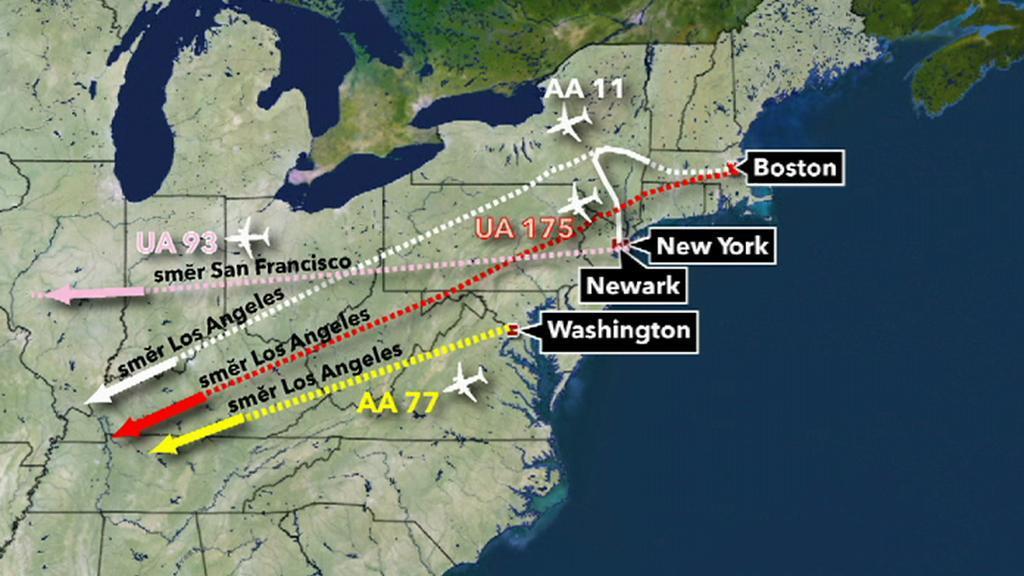 9/11 - kam letěla letadla