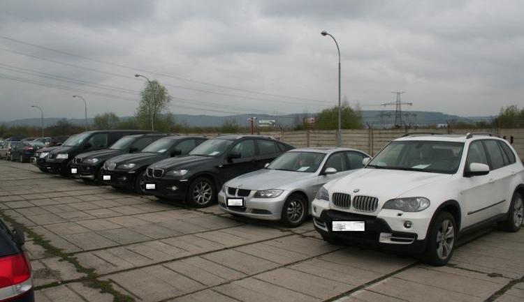 Zajištěné kradené vozy