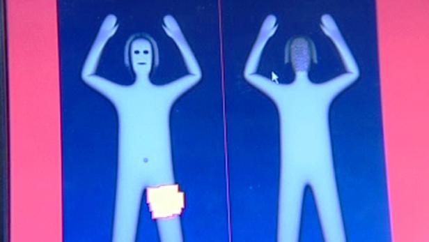 Tělesný skener na letišti