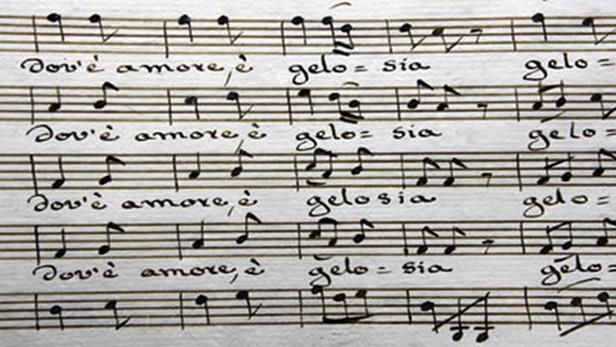 Partitura opery Dove é amore é gelosia
