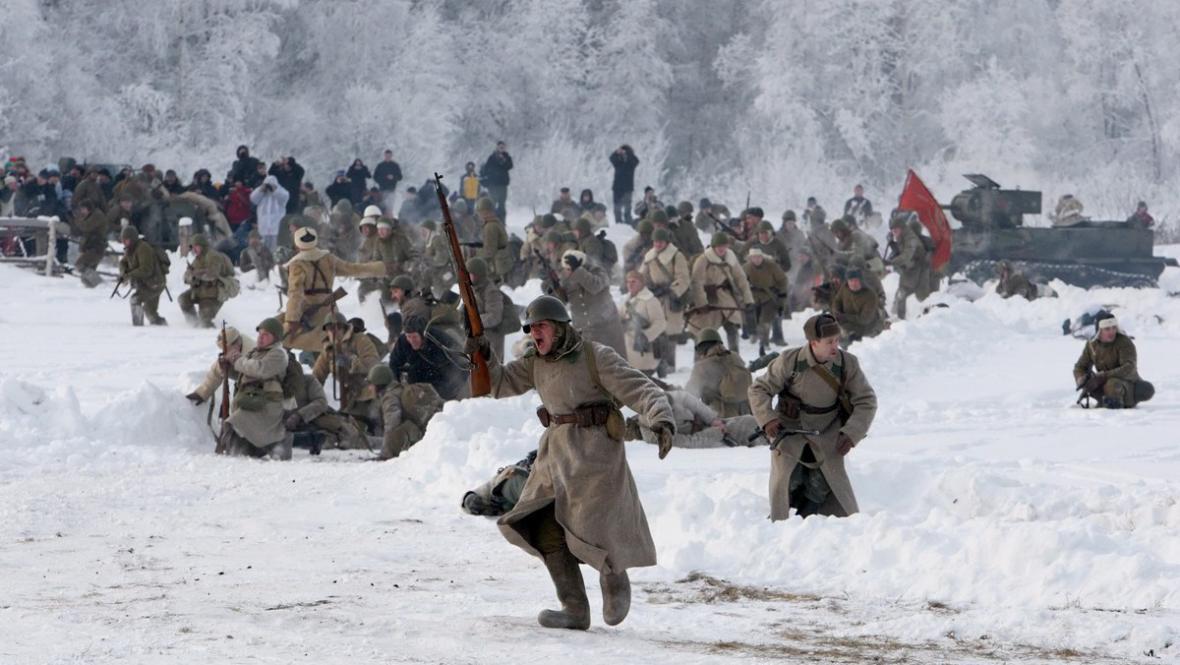 Rekonstrukce bitvy u Leningradu