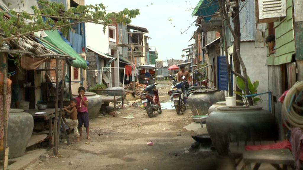 Slam na předměstí Phnompenhu