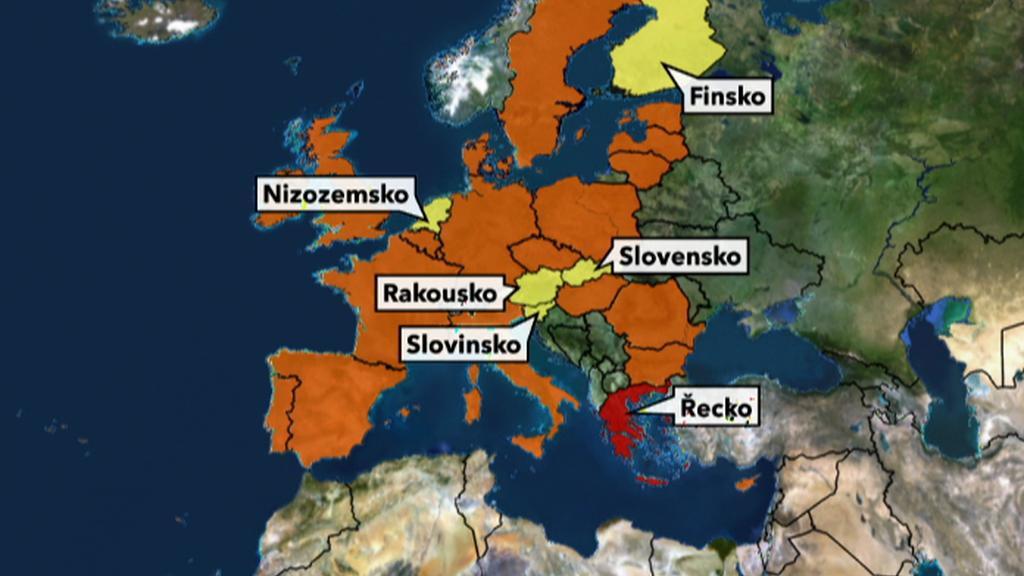 Země, které žádají záruky za řeckou půjčku