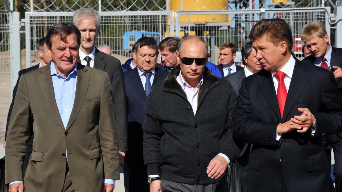 Slavnostní napouštění plynovodu Nord Stream