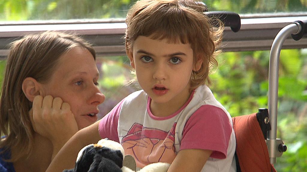 Dětská pacientka v Motole