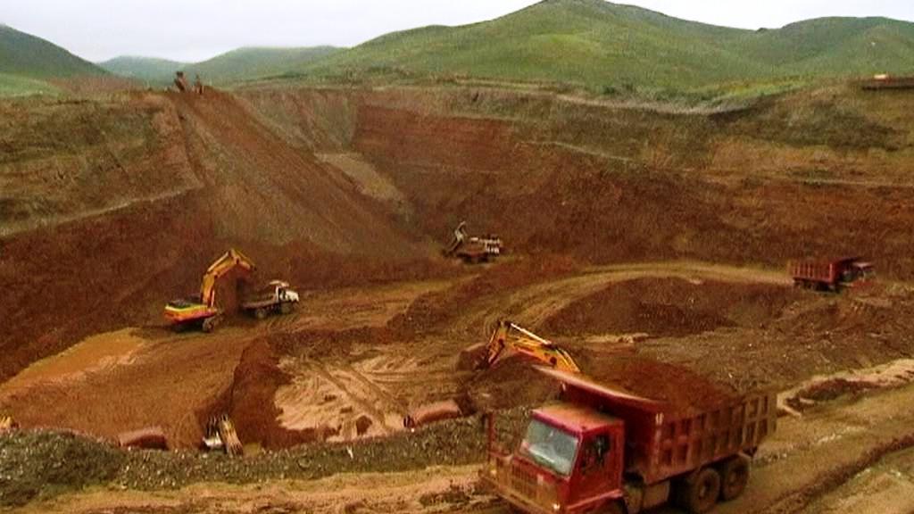 Těžba zlata v Mongolsku