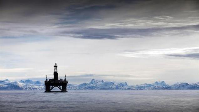 Ropná plošina u Grónska