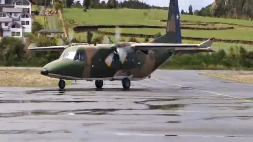 Chilské armádní letadlo Casa 212
