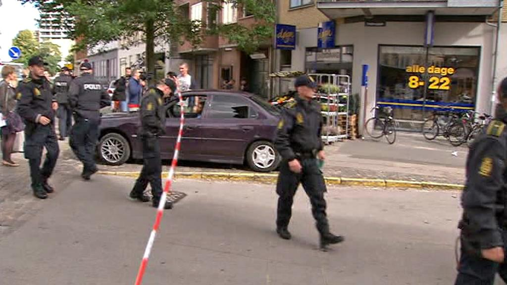 Dánská policie na místě střelby před mešitou