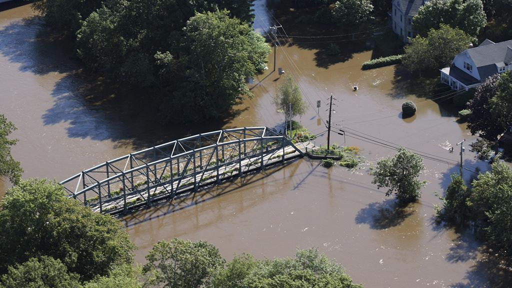 Irene způsobila záplavy v Connecticutu