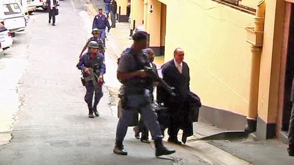Zásah jihoafrické policie