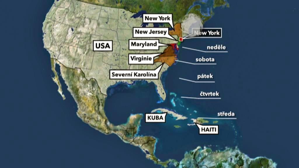 Cesta hurikánu Irene