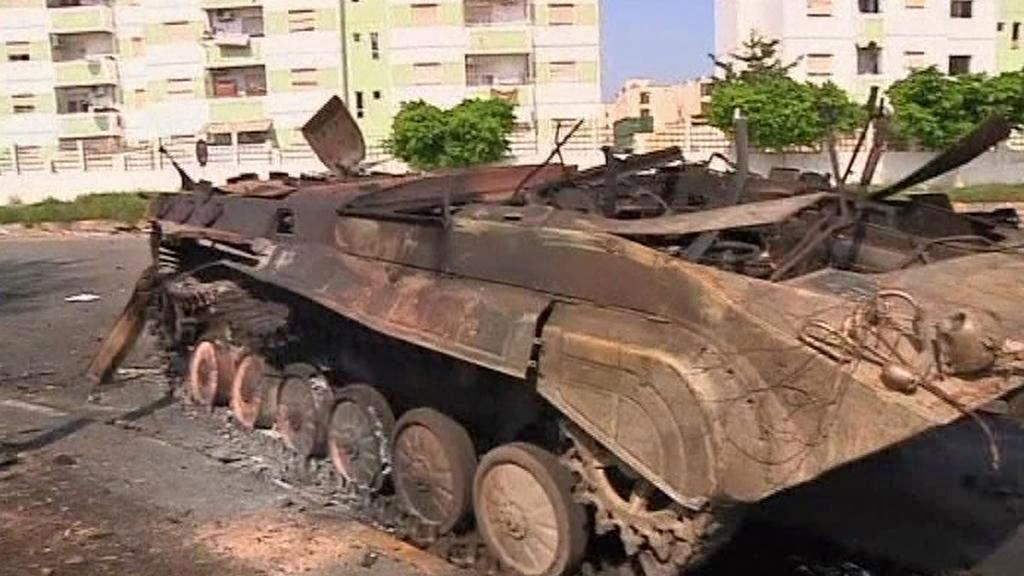 Následky bojů v Tripolisu